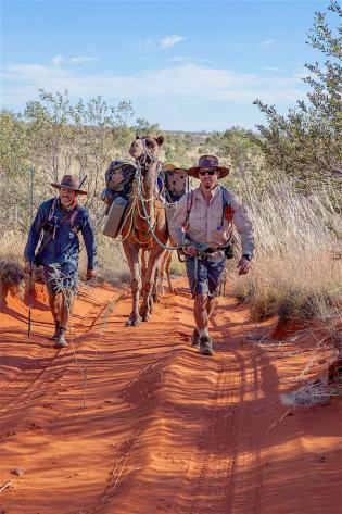 4. Young travellers on the Canning Stock Route. The young gent on the left is the great grandson of the explorer Warburton, copyright Simon Nevill..jpg