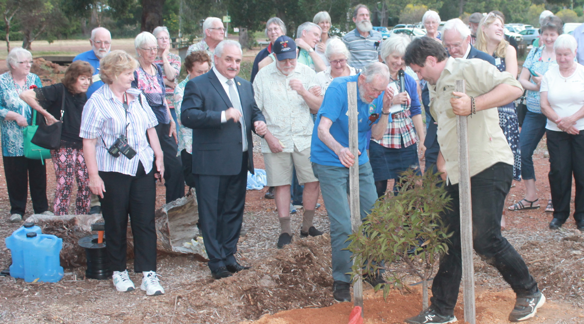 3. Tree planting in honour of Kevn Griffiths .png