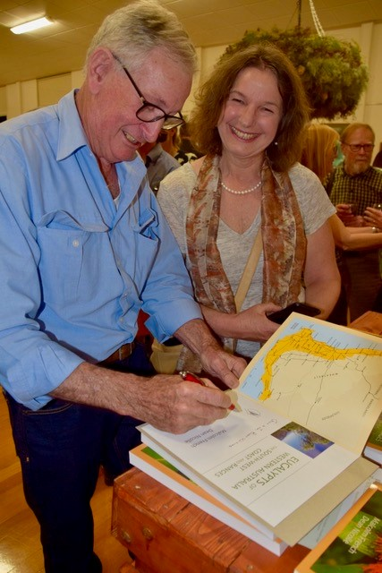 Malcolm signing the new South-West Eucalypt book